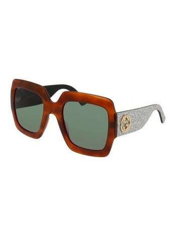 Slnečné okuliare GUCCI, model GG0102 green havana silver