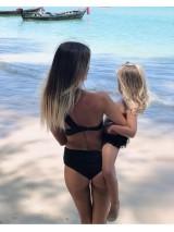 Luxusné dvojdielne plavky na jedno rameno Antonina Gatsuli čierne