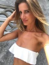 Luxusné dvojdielne bandeau plavky s volánom Antonina Gatsuli biele