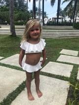 Luxusné detské dvojdielne plavky Antonina Gatsuli biele