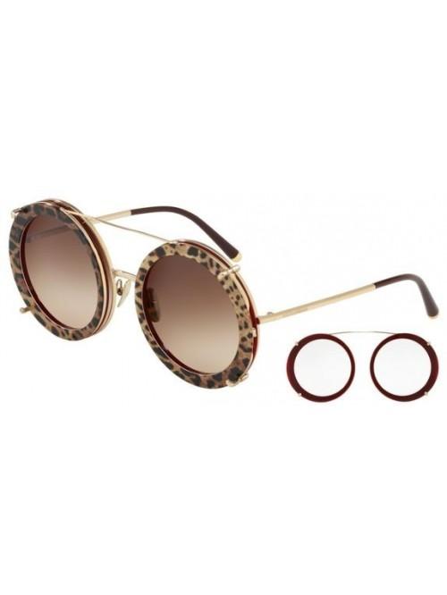 Slnečné okuliare Dolce & Gabbana, model DG2198 round havana