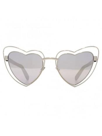 Slnečné okuliare Saint Laurent LOULOU strieborné