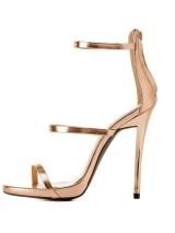 Guiseppe Zanotti rose gold sandále