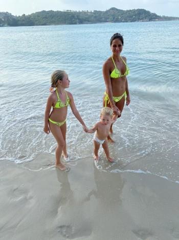 Plavky detské trojuholníkové