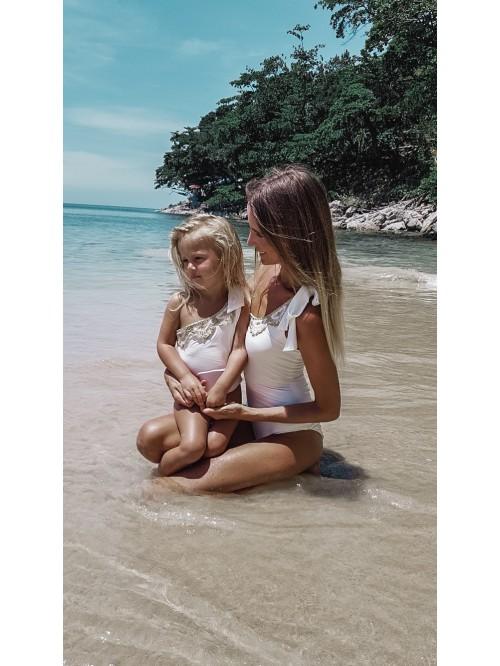 Luxusné jednodielne biele plavky Antonina Gatsuli