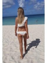 Antonina Gatsuli luxusné plavky volánové biele