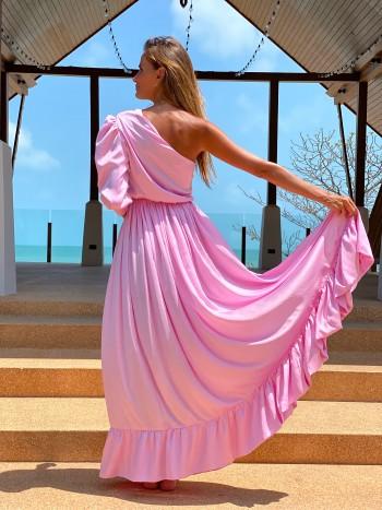 Dlhé šaty Antonina Gatsuli na jedno rameno